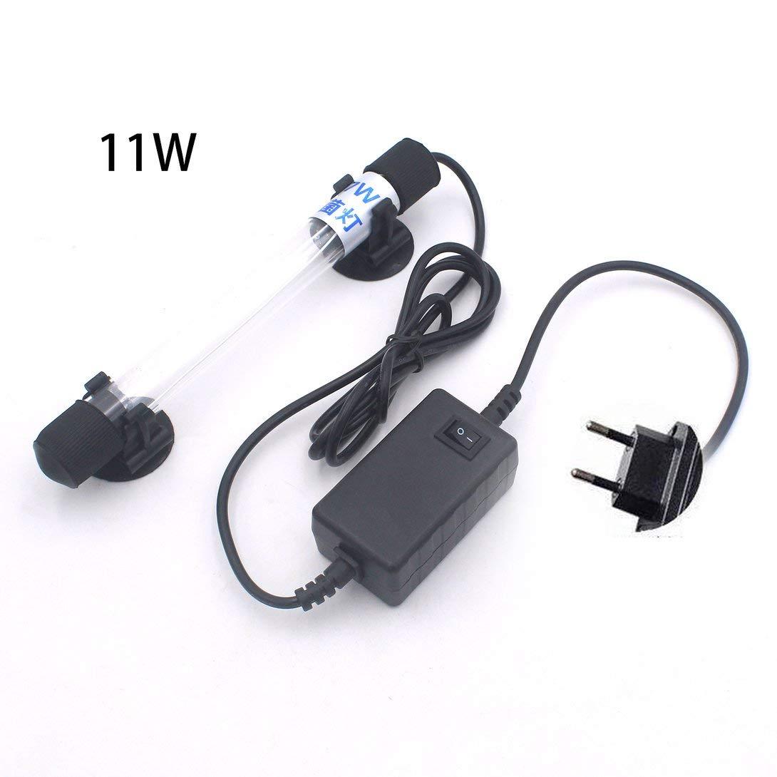 Acquario SwiftSwan Lampada UV Antibatterica Leggera sommergibile Luce UV sommergibile sterilizzatore per Acquario Lampada germicida