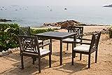 Safavieh Outdoor Living Collection Del Mar 5-Piece Dining Set, Ash Grey