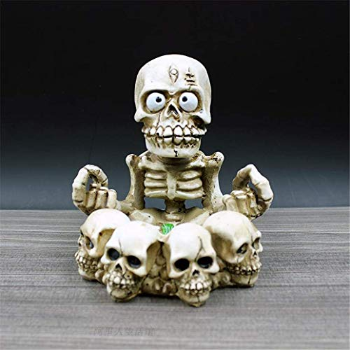 Make life wonderful Creative Funny Variety of Shapes Skeleton Ashtrays Halloween Scene Costume Party Home Office Decor Gift (Style 1) -