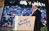 Dick Enberg Signed Photo - EMMY 8x10 COA - Autographed MLB Photos