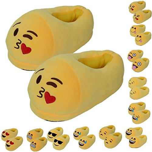 Herren Damen Winter Hausschuh Kolylong® emoji emoticon Nette Komisch Slipper (RU / EU / CN: 35-44 USA: 5-8 UK: 5-8 Fuss-Länge: 28.5cm / 11.22  Fuß Breite: 13,5 cm / 5.31 ) (A)