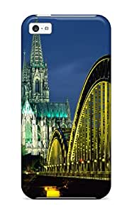 Fashion Case Cover For Iphone 5c(cologne Cathedral And Hohenzollern Bridge Germany)