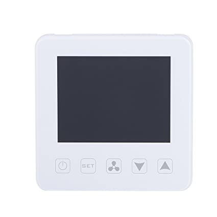 Vosarea Touchscreen Heating Thermostat LCD Display WiFi Underfloor Heating Thermostats Central Temperature Controller (White)