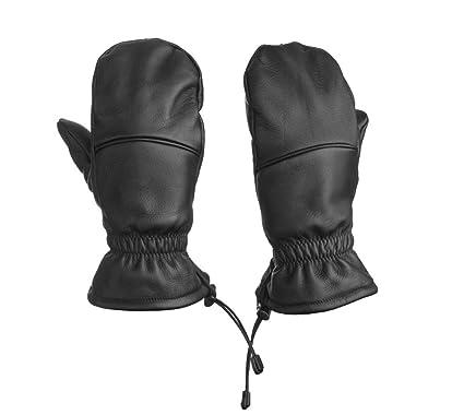 761c80af7ed086 Fünf Finger Fäustling Leder: Hybrid Handschuh - Unisex - Bestes Material -  ideal für Freizeit