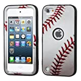 Wydan Compatible Case for iPod Touch 6th, iPod Touch 5th, Heavy Duty High Impact Armor Case Cover Protective Tuff Verge Case for iPod Touch 5 6th Generation Baseball for Apple