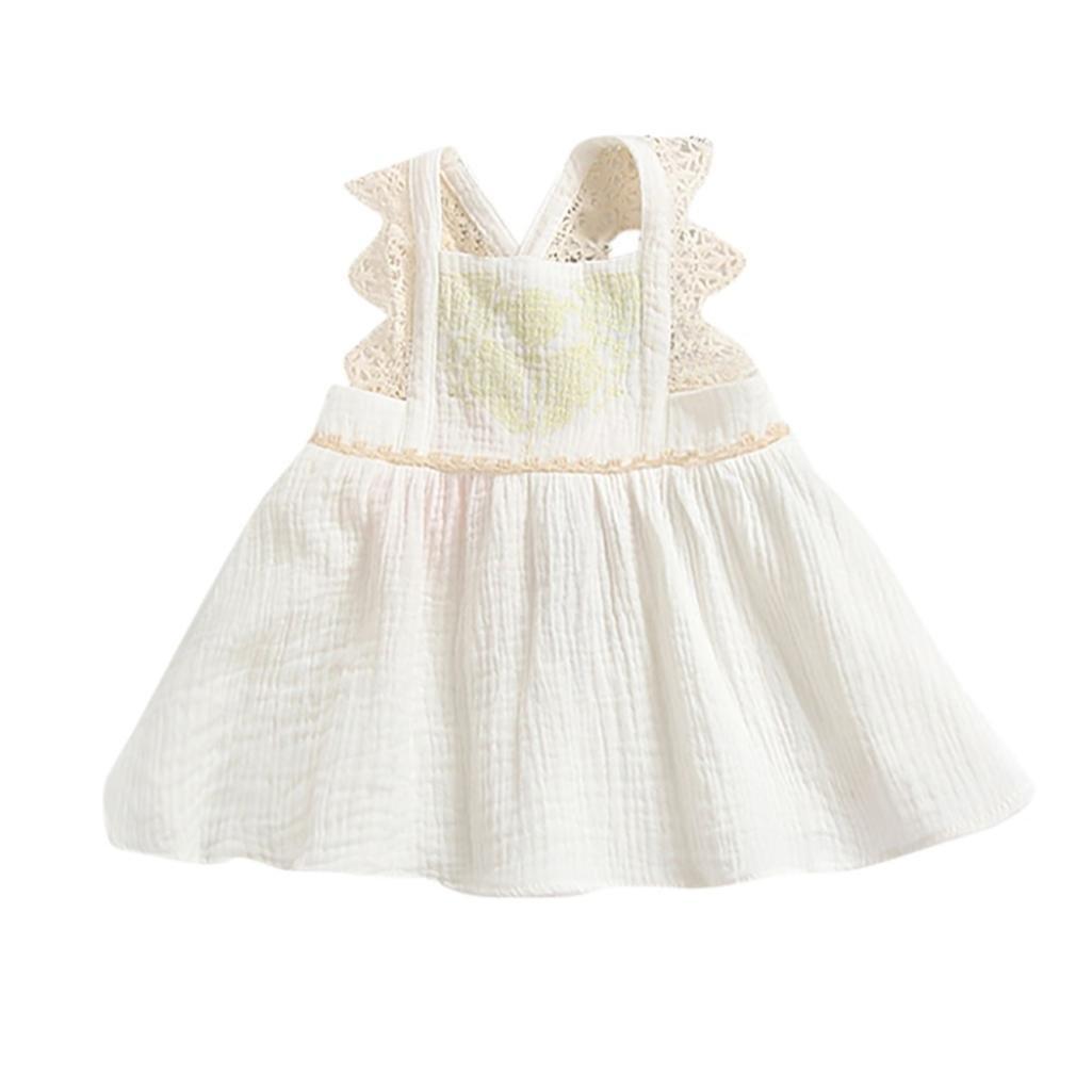 3 St/ücke Kleinkind Baby M/ädchen Brief Strampler Overall Spitze Shorts Outfits Kleidung Set erthome Baby Kleidung