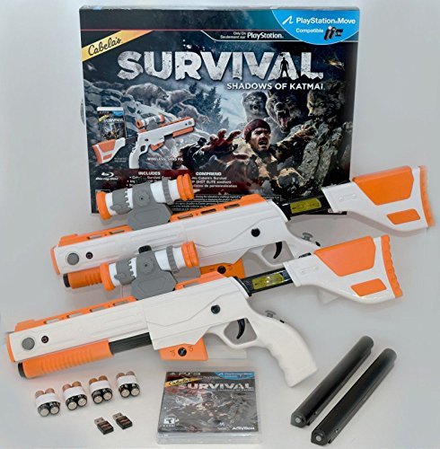 ps3 cabelas survival shadows of katmai game 2 guns