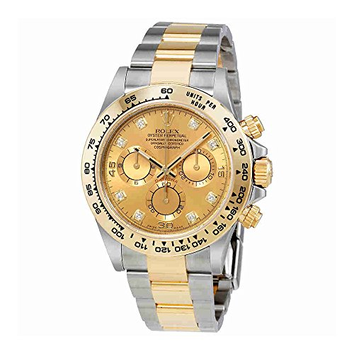 Rolex Cosmograph Daytona Champagne Diamond Dial Steel and 18K Yellow Gold Mens Watch