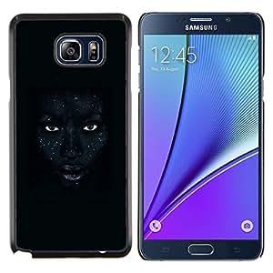 Labios africanos Mujer Noche Ojos- Metal de aluminio y de plástico duro Caja del teléfono - Negro - Samsung Galaxy Note5 / N920