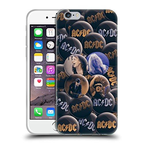 Officiel AC/DC ACDC Solo Épingles De Bouton Étui Coque en Gel molle pour Apple iPhone 6 / 6s