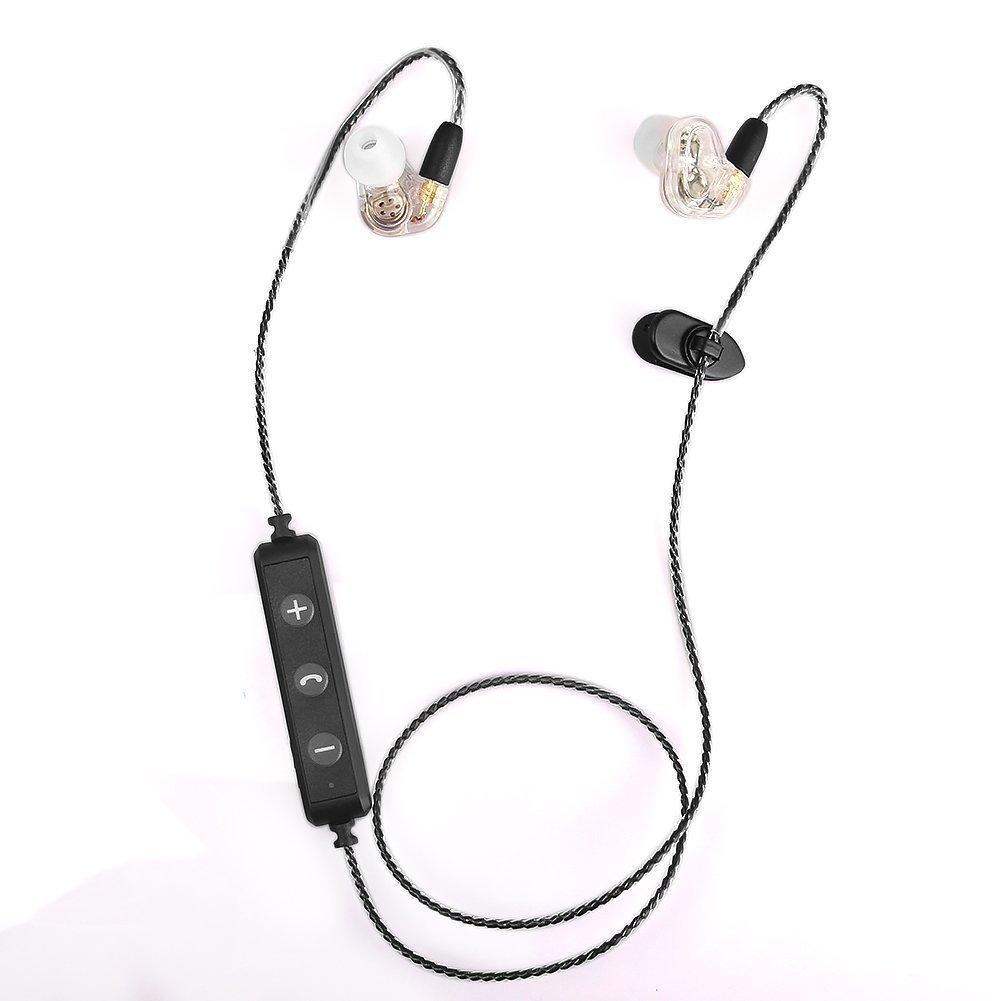 Acid Eye Bluetooth Headphones In Ear Wireless Sweat-Proof Transparent Earbuds (White) by Acid Eye