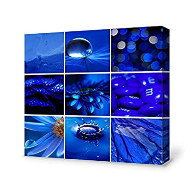 Beautiful Expertise, Made With Love, Blue Ocean Theme Collage Idea Painting Artwork for Home Framed