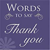 Words to Say Thank You, , 1904991696