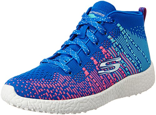 Skechers Kids Girls' Burst-Sweet Symphony Sneaker, Blue/Hot Pink, 10.5 M US Little Kid
