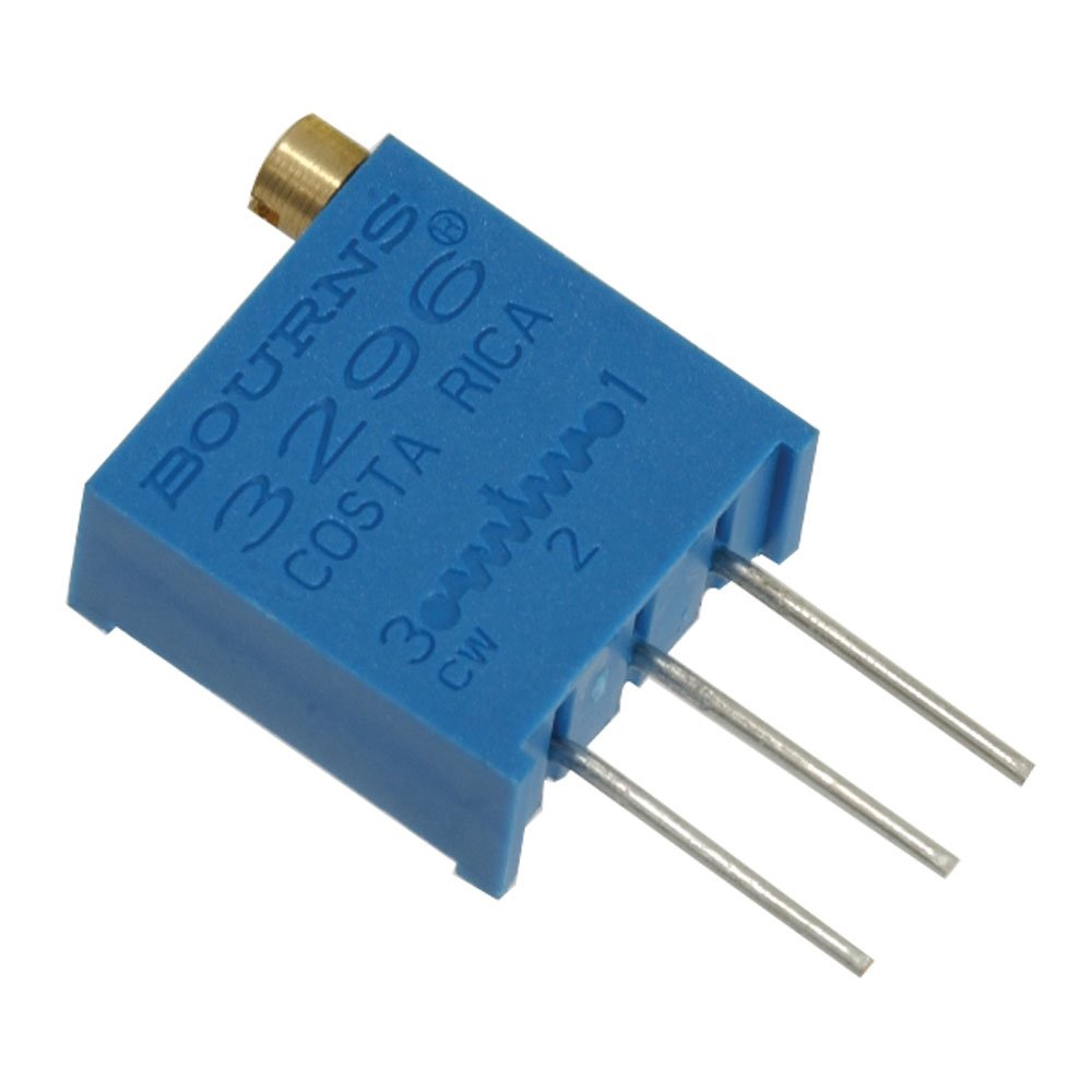 Spectrol 3296W-1-100/64W/364W Cermet Trimmer Potentiometer, 10 Ohm, 25 Turn, 9.53 mm L x 11.55 mm H x 4.83 mm W (Pack of 10) Spectrol/Vishay Corporation