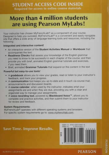 MyLab French with Pearson eText -- Access Card -- for Points de depart (one semester access) (2nd Edition)