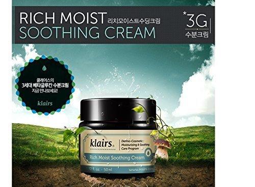 KLAIRS Rich Moist Soothing Cream, Korean Cosmetics, Korean Beauty, Kpop Beauty, Kstyle by N/A