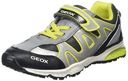 Geox J Bernie B, Zapatillas Para Niños Grau (GREY/LIMEC0666)