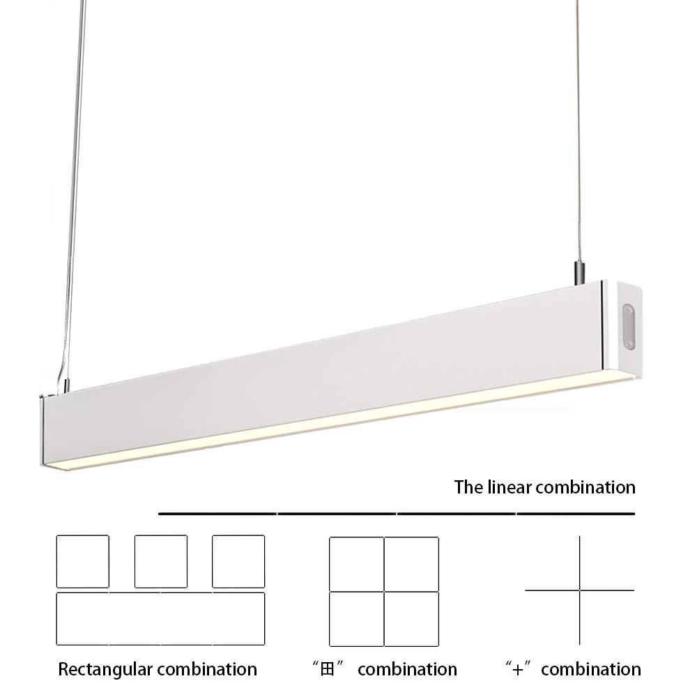 KJLARS Pendelleuchte LED Büroleuchte Deckenleuchte Pendellampe Büro Hängelampe, höhenverstellbar Pendellänge maximum 150 cm, 1200*30*80mm 36W 4000K für hängeleuchte esstisch Arbeitszimmer Wohnzimmer