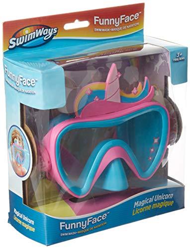 SwimWays 6047311 Funny Face Swim Mask, Unicorn
