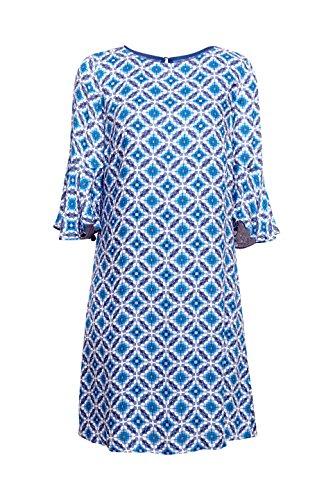 410 Damen Blue Mehrfarbig Kleid ESPRIT Bright vYBxXAwq