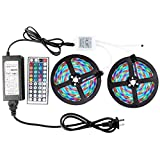 Kyпить WenTop Led Strip Light Kit Waterproof SMD 3528 32.8Ft(10M) 600leds Led Tape Light Dimmable with DC12v Power Supply and 44K Remote Controller for Under Cabinet, Bed, Stairs, TV Backlighting - RGB Only на Amazon.com