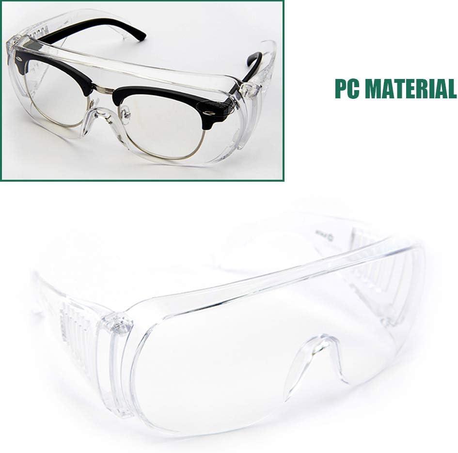 Gafas de Seguridad con Características Transparentes a Prueba de Salpicaduras, a Prueba de Viento y a Prueba de Arena, Material de PC, Resistencia al Impacto, Adecuado para Montar