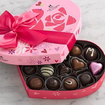 LAKE CHAMPLAIN CHOCOLATES Grand Heart Box Asst 22 Pc, 11 OZ made in Vermont