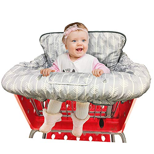 Reverse Cart Bag - Shopping Cart Cover High Chair Cover for Baby and Toddler-Waterproof-Universal fit-Reversible Baby Cart Seat Cover for Girls and Boys