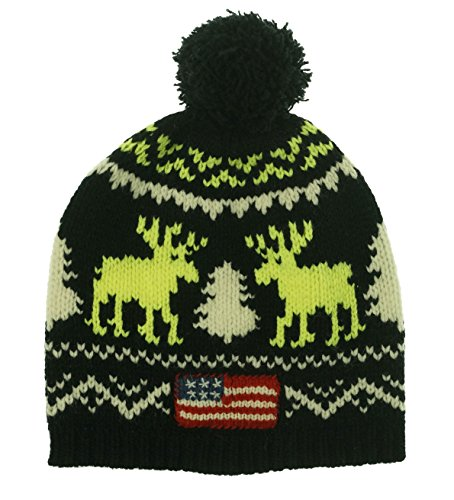 ns Wool Reindeer Winter Hat Black O/S ()