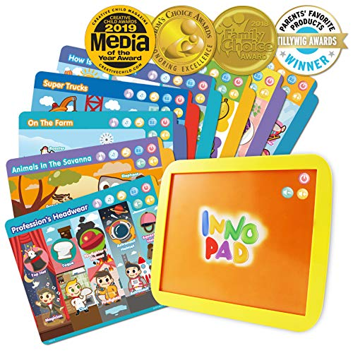 BEST LEARNING INNO PAD Smart Fun Lessons - Educational Tablet Toy to Learn Alphabet, Numbers, Colors, Shapes, Animals, Transportation, Time for Toddlers Ages 2 to 5 Years Old (Best Ipad Games For Girls)