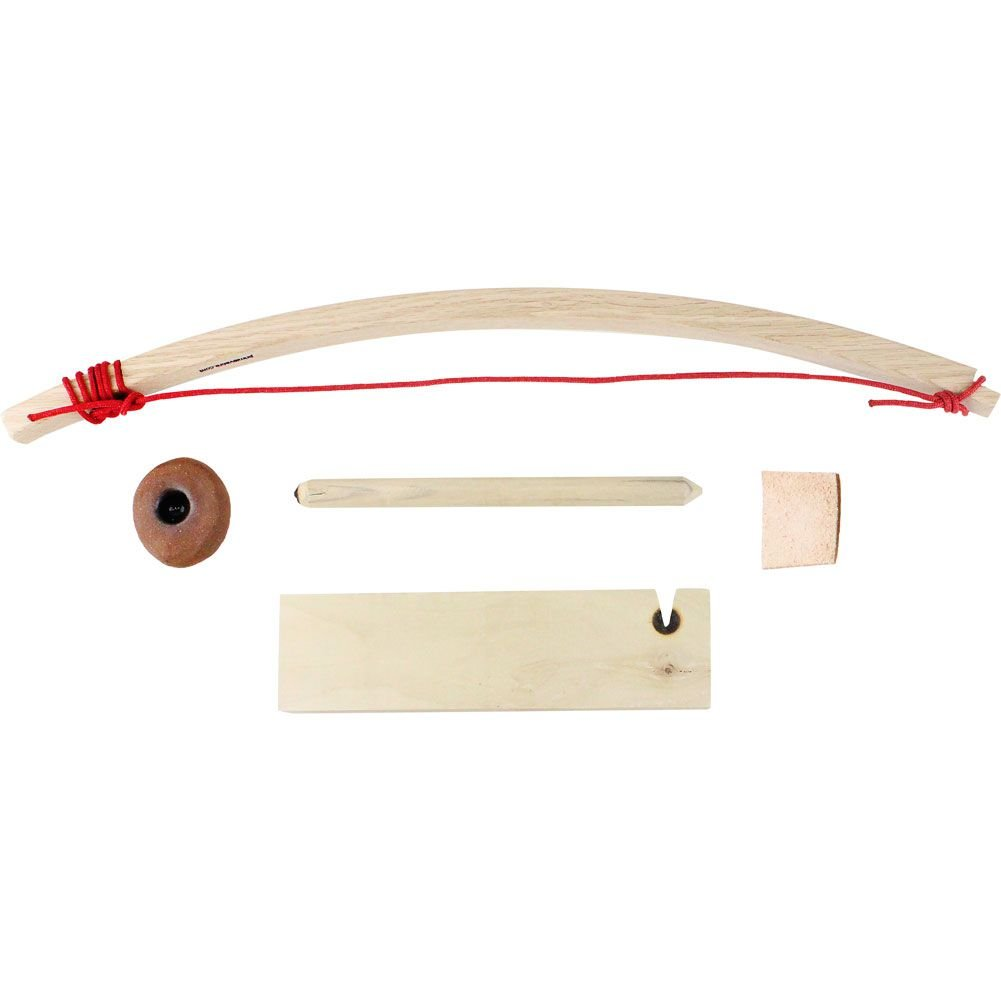Scout Primitive Fire Bow Drill Kit with Upgraded Palm Rock
