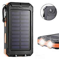 F.Dorla 20000mAh Power Bank Solar Charge...
