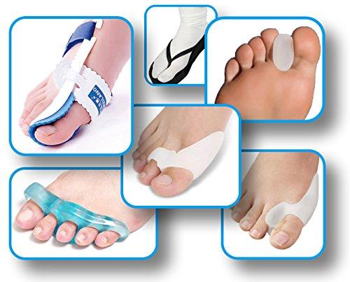 Utrax Hallux Valgus Orthotics Set Bunion Toe Separator Big Toe Night Splint Straightener Protector Foot Pain Relief by UTRAX