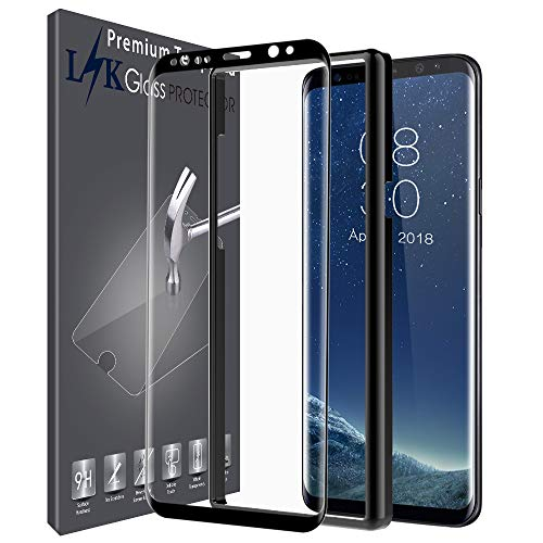 LK Screen Protector for Samsung Galaxy S8 Plus, [3D Curved] [Full Coverage] [Alignment Frame Easy Installation] [HD Clear] with Lifetime Replacement Warranty