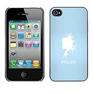 LECELL--Funda protectora / Cubierta / Piel For iPhone 4 / 4S -- Frozen Princesa --