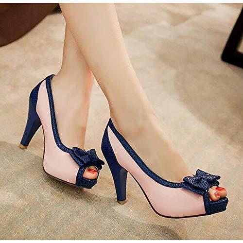 Stiletto Shoes Women's PU ZHZNVX Heel Black Pink Heels Pink Pump Basic Summer Blue Polyurethane 81Tp5q