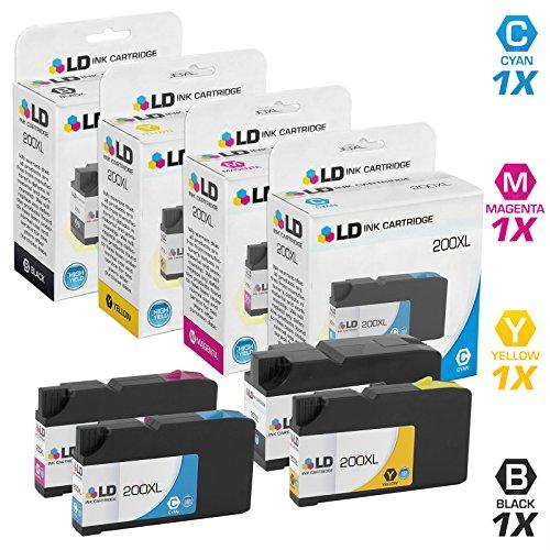 Compatible Lexmark 200XL Set of 4 Ink Cartridges: 1 14L0174