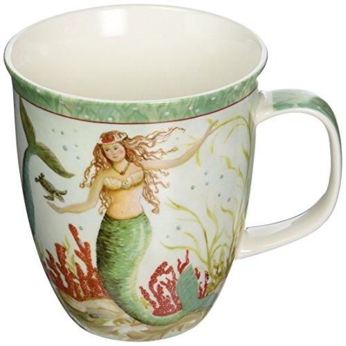 - Coastal Tropical Mermaid Coffee Latte Mug