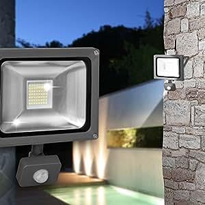 Pared Foco exterior ø150mm/LED/detector de movimiento/antracita/aluminio/Foco Luz
