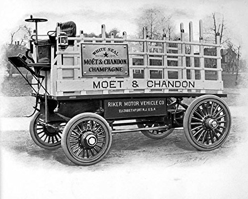 1900 Riker Truck Electric Car Photo Poster Moet & Chandon