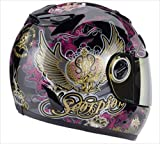 Scorpion EXO-750 Graphics Helmet, Black/Purple/Green Kingdom, Size: 2XL, Helmet Category: Street, Primary Color: Green, Helmet Type: Full-face Helmets 75-4612XL