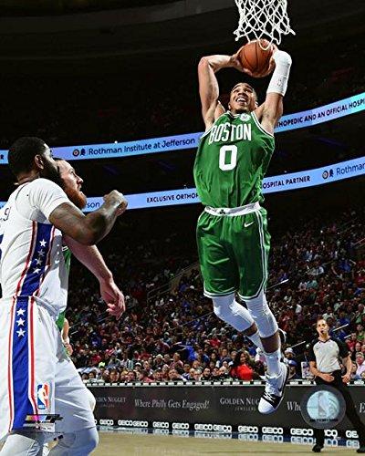 Amazon.com  Jayson Tatum Boston Celtics 2017-2018 NBA Action Photo ... e49c59baff50