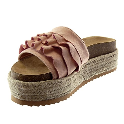 on Ciabatte pallido rosa Plateau Angkorly con 6 Corda Cork Donna Alpargatas Cm Moda Slip Volante Scarpe xCatqX