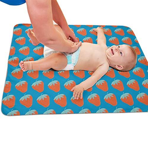 V5DGFJH.B Baby Portable Diaper Changing Pad Strawberry Pattern Urinary Pad Baby Changing Mat 31.5