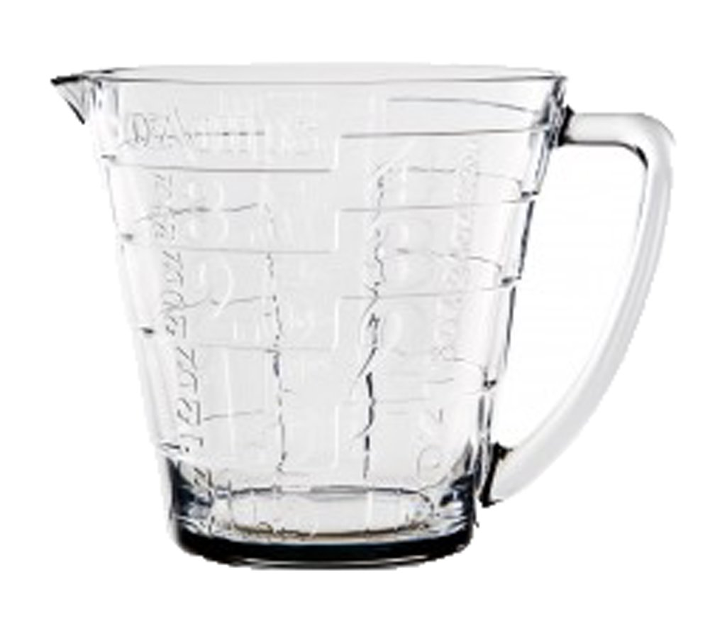 Home Essentials Glass Liquid Measuring Cup With Large Handle - Large Print Measurements for Easy Visibility, Baking, Cooking, Pouring Liquid - 32oz, Clear