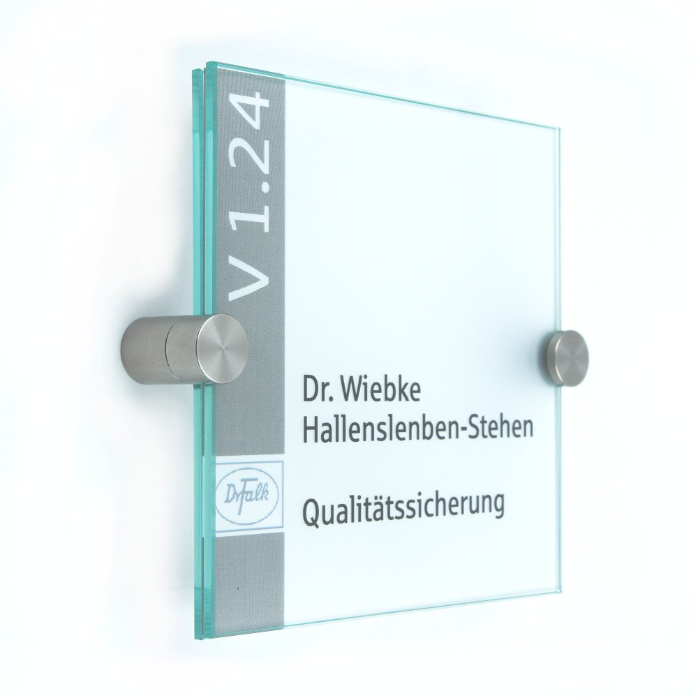 Klemmhalter T/ürschild Glas,Vitrum K 200//100 mm