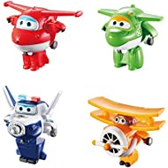 Super Wings - Transform-A-Bots 4 Pack - Jett, Mira,...