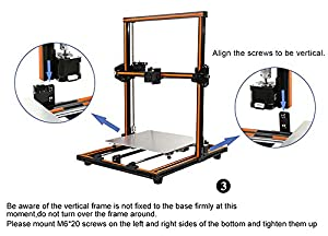 Anet E12 Aluminium Alloy Frame Easy Assembly Large Size 300 x 300 x 400 3D Printer DIY Kit from Anet