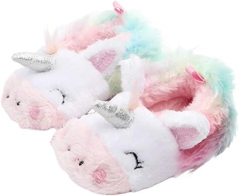 bebé niño Felpa Suave algodón Unicornio casa Zapatos Zapatillas ...